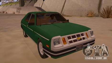 Chevrolet Chevette 1976 para GTA San Andreas vista traseira