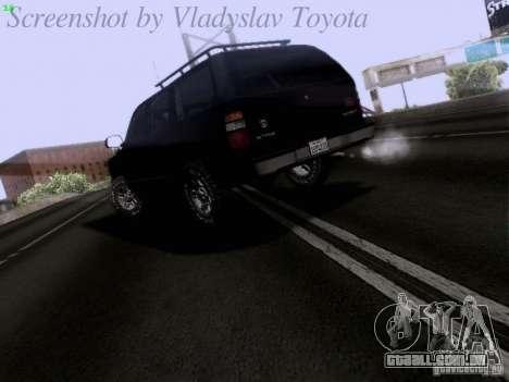 Chevrolet Tahoe 2003 SWAT para GTA San Andreas traseira esquerda vista