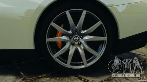 Nissan GT-R 2012 Black Edition para GTA 4 interior
