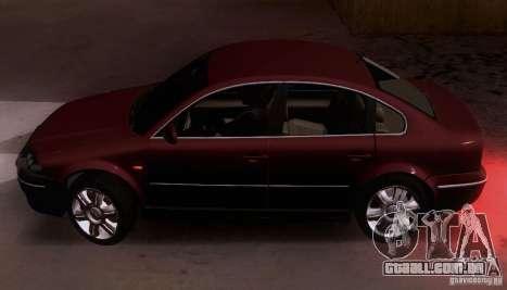 Volkswagen Passat B5 para GTA San Andreas esquerda vista
