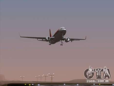 Boeing 737-8F2 Spicejet para GTA San Andreas vista inferior