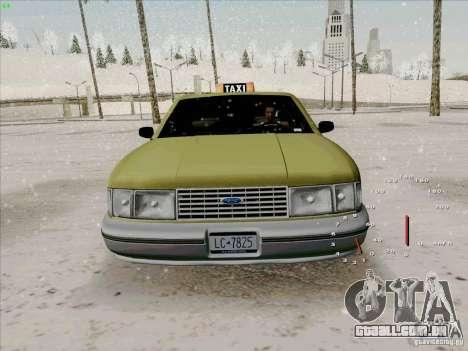 HD táxi SA de GTA 3 para GTA San Andreas vista interior