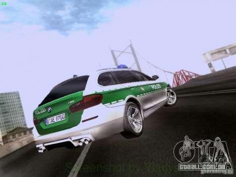 BMW M5 Touring Polizei para GTA San Andreas vista direita