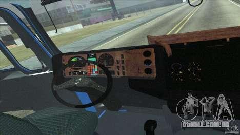 Man F2000 para GTA San Andreas vista traseira