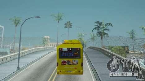 Mercedes-Benz Citaro G para GTA San Andreas traseira esquerda vista