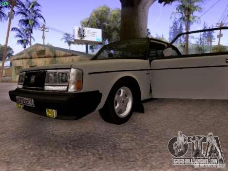 Volvo 242 Turbo para GTA San Andreas vista traseira