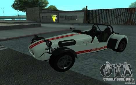 Caterham R500 para GTA San Andreas vista traseira