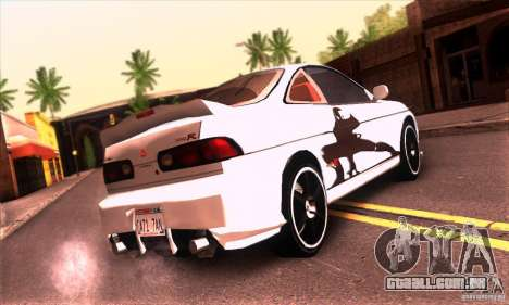 Honda Integra Tunable para GTA San Andreas vista inferior