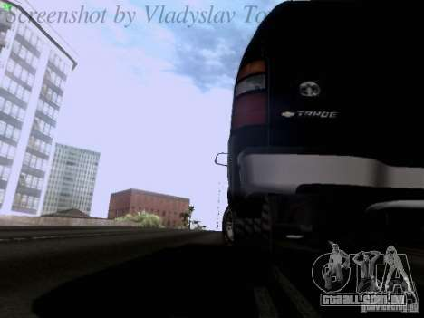 Chevrolet Tahoe 2003 SWAT para vista lateral GTA San Andreas