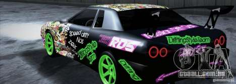 New Elegy DriftingStyleTeam para GTA San Andreas esquerda vista
