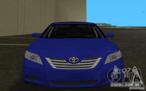 Toyota Camry 2007 para GTA Vice City vista lateral