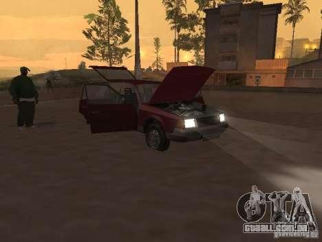 AZLK Moskvich 2141 para GTA San Andreas vista interior