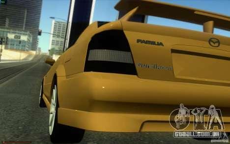 Mazda Speed Familia 2001 V1.0 para GTA San Andreas traseira esquerda vista