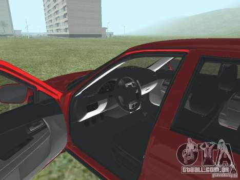 VAZ-2170 para GTA San Andreas vista traseira