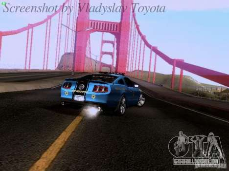 Ford Mustang GT 2011 Police Enforcement para GTA San Andreas vista interior