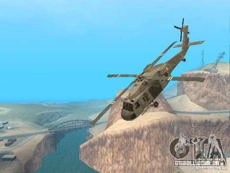 O UH-60 do COD MW3 para vista lateral GTA San Andreas