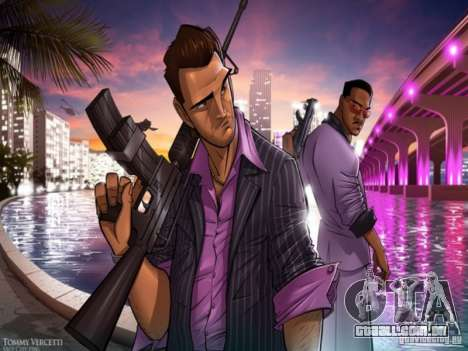 Tela de boot do Vice City para GTA San Andreas