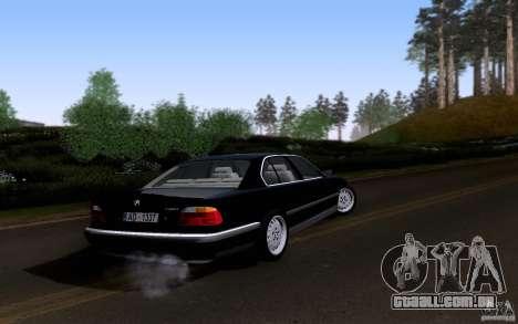 BMW 730i E38 para GTA San Andreas vista superior