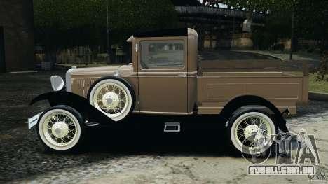 Ford Model A Pickup 1930 para GTA 4 esquerda vista