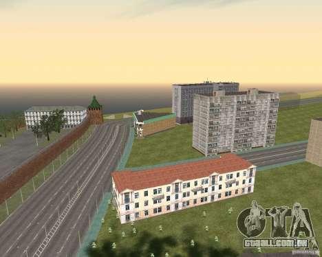 Nižegorodsk v. 0.1 BETA para GTA San Andreas por diante tela