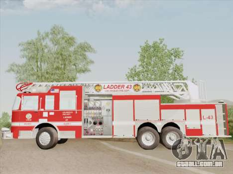 Pierce Arrow LAFD Ladder 43 para GTA San Andreas vista inferior
