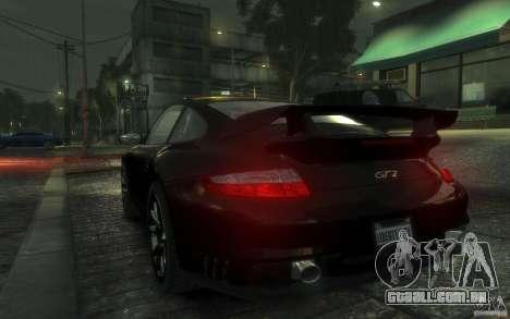 Porsche 911 GT2 2008 para GTA 4 vista direita