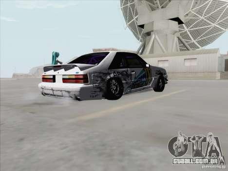 Ford Mustang Drift para GTA San Andreas vista direita