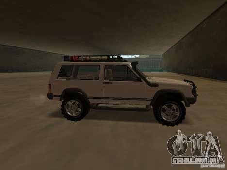 Jeep Cherokee Sport para GTA San Andreas esquerda vista