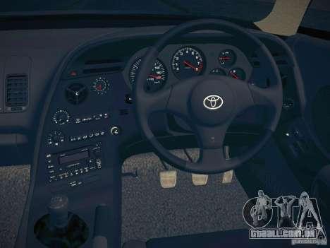 Toyota Supra VeilSide Fortune 2003 para GTA San Andreas vista interior