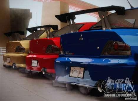 Mitsubishi Lancer Evolution VIII MR Edition para GTA San Andreas esquerda vista