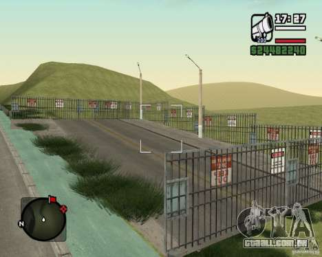 Estrada de Leiria-Nižegorodsk para GTA San Andreas sexta tela