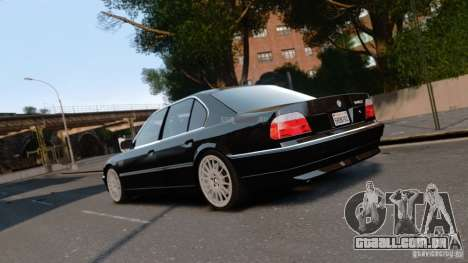 BMW 740I 1998 para GTA 4 esquerda vista