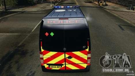 Mercedes-Benz Sprinter Police [ELS] para GTA 4 rodas