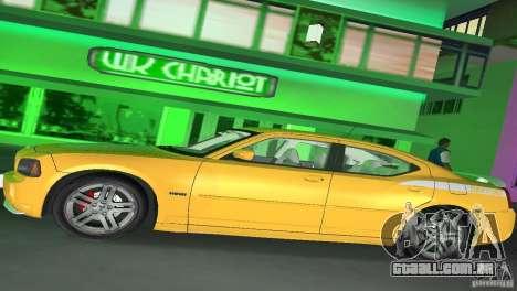 Dodge Charger RT para GTA Vice City vista traseira