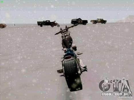 Harley para GTA San Andreas vista traseira
