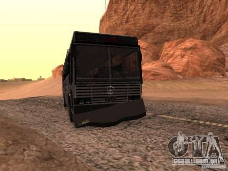 Mercedes Benz SWAT Bus para GTA San Andreas vista interior