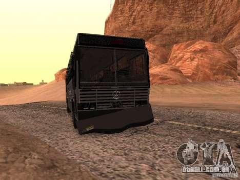 Mercedes Benz SWAT Bus para GTA San Andreas vista interior