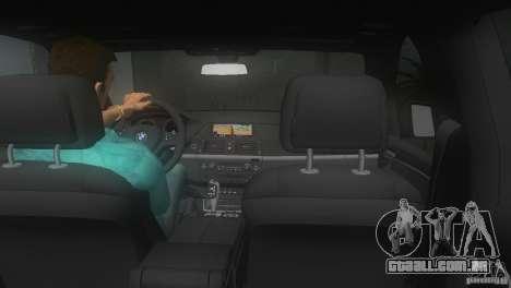 BMW X5 para GTA Vice City vista traseira