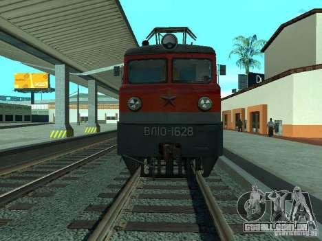 Vl10-1628 RZD para GTA San Andreas traseira esquerda vista