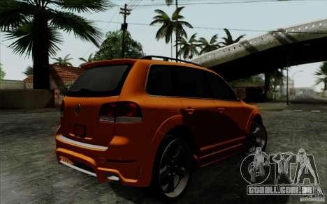 Volkswagen Touareg R50 Light para GTA San Andreas vista traseira