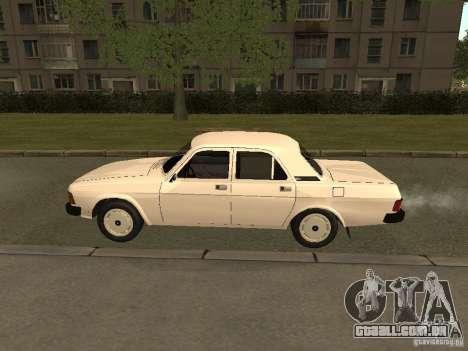 Volga GAZ 31013 para GTA San Andreas traseira esquerda vista