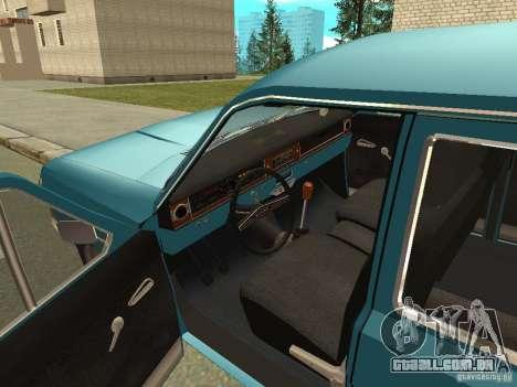 Volga GAZ 24-12 para GTA San Andreas vista traseira