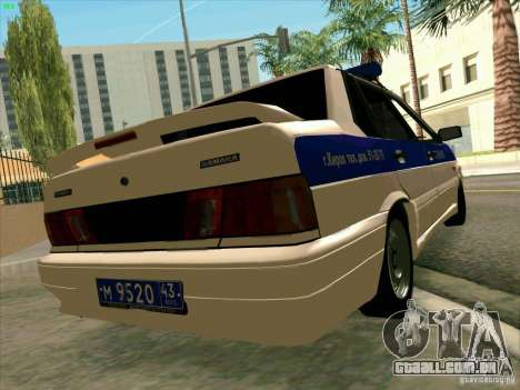 VAZ 2115 polícia para GTA San Andreas esquerda vista