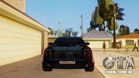 Maybach 62 para GTA San Andreas vista interior