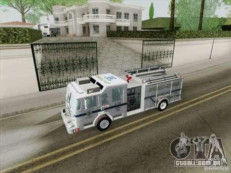Pierce Pumpers. B.C.F.D. FIRE-EMS para o motor de GTA San Andreas