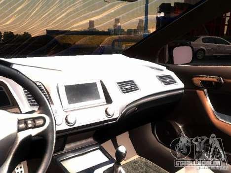 Honda Civic Si 2007 para GTA San Andreas vista interior