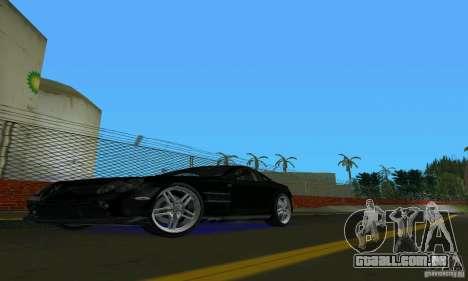 Mercedes-Benz SLR McLaren 722 Black Revel para GTA Vice City deixou vista