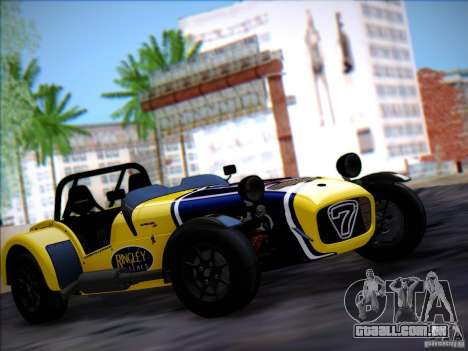 Caterham Superlight R500 para GTA San Andreas vista traseira