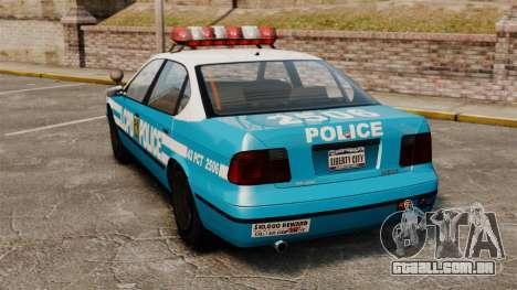 Declasse Merit Police Cruiser ELS para GTA 4 traseira esquerda vista