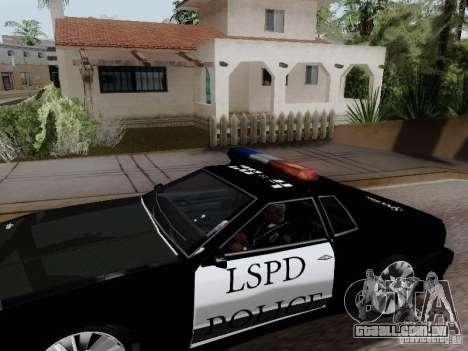 Elegy Police LS para GTA San Andreas traseira esquerda vista